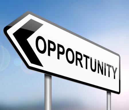 opportunity sign: Illustration depicting a sign with an opportunity concept.