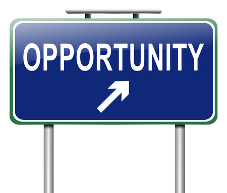 good break: Illustration depicting a sign with an opportunity concept.