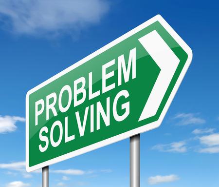 problem solving: Illustration depicting a sign with a problem solving concept.