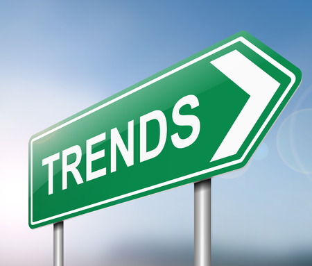 tendencies: Illustration depicting a sign with a trends concept.