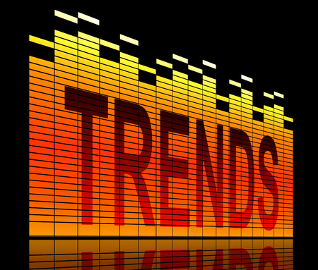 tendencies: Illustration depicting graphic equalizer levels with a trends concept. Stock Photo