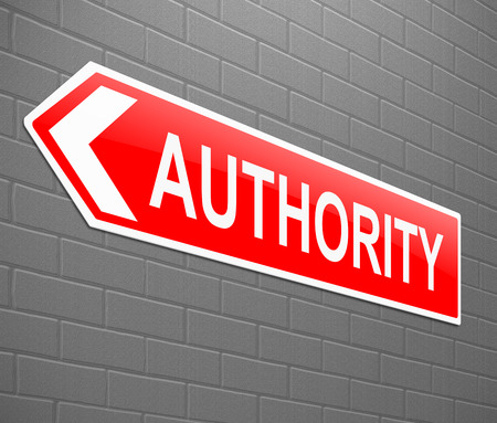 authority: Illustration depicting a sign with an authority concept.