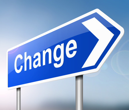 amend: Illustration depicting a sign with a change concept.