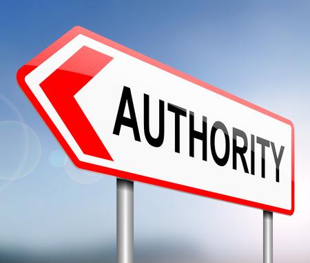 autoridad: Ilustración que muestra una señal con un concepto de autoridad.