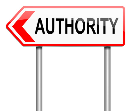 permission: Illustration depicting a sign with an authority concept.