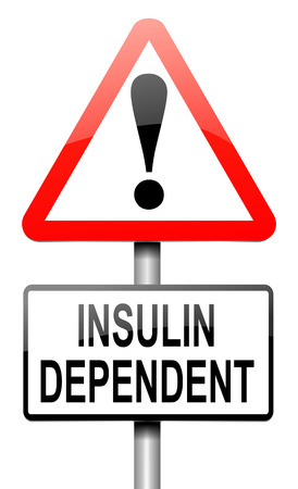 blood sugar: Illustration depicting a sign with an insulin concept.