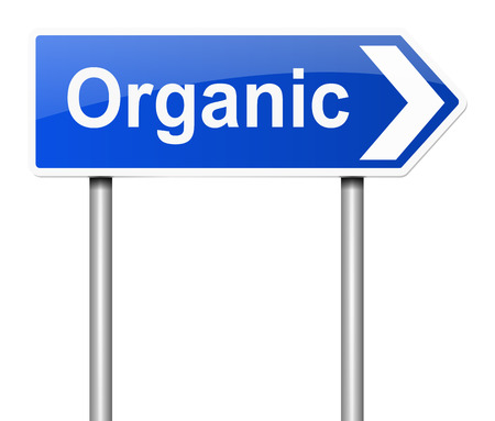gmo: Illustration depicting a sign with an organic concept. Stock Photo