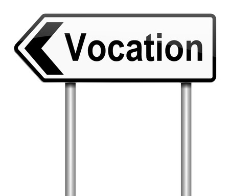 vocation: Illustration depicting a sign with a vocation concept.