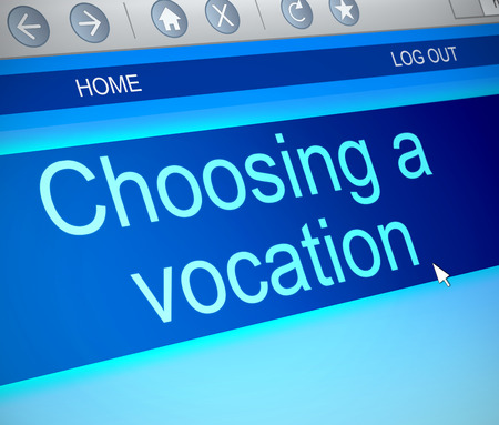 vocation: Illustration depicting a computer screen capture with a vocation concept. Stock Photo