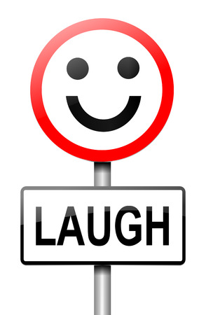 glee: Illustration depicting a sign with a laughter concept.