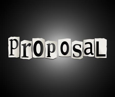 ritagliare: Illustrazione raffigurante un insieme di lettere stampate ritagliate disposti a formare la parola proposta.