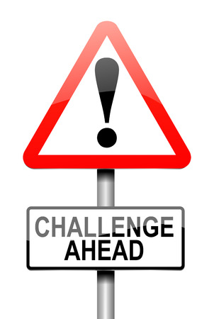 challenge: Illustration depicting a sign with a challenge concept.