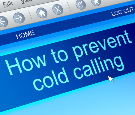 Illustration depicting a computer screen capture with a cold calling concept.