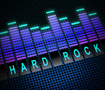 hardrock: Illustration depicting graphic equalizer levels with a hard rock concept.