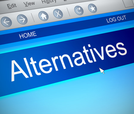 alternatives: Illustration depicting a computer screen capture with an alternatives concept. Stock Photo