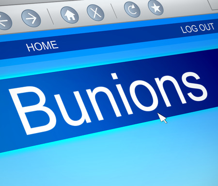 lump: Illustration depicting a computer screen capture with a bunions concept. Stock Photo