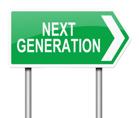 procreation: Illustration depicting a sign with a next generation concept. Stock Photo
