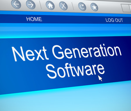 computer generation: Illustration depicting a computer screen capture with a next generation concept.