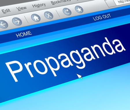 brainwash: Illustration depicting a computer screen capture with a propaganda concept.