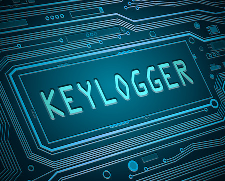 logger: Abstract style illustration depicting printed circuit board components with a keylogger concept.