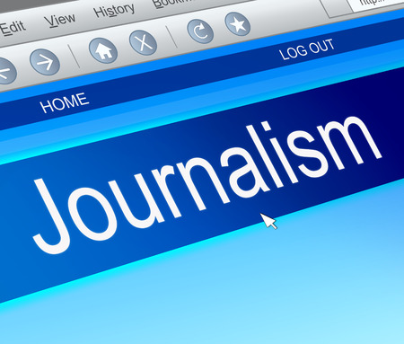 publicist: Illustration depicting a computer screen capture with a journalism concept. Stock Photo