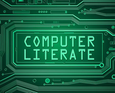 sachant lire et �crire: Illustration de style abstrait repr�sentant imprim�s composants de la carte de circuit avec un concept des connaissances en informatique. Banque d'images