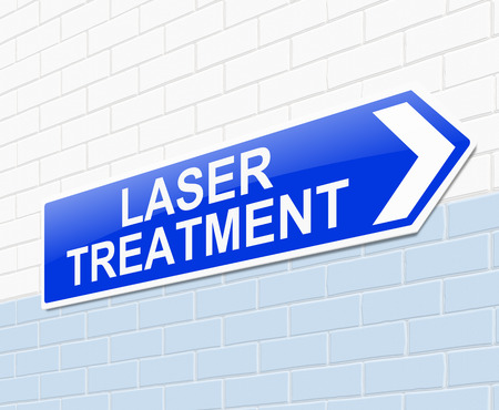 hospital sign: Illustration depicting a sign with a laser treatment concept. Stock Photo