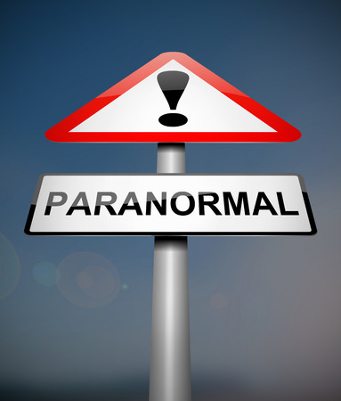 Illustration depicting a sign with a paranormal concept.