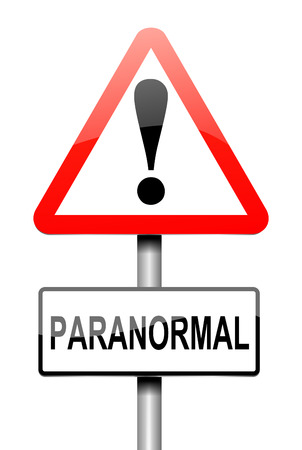 abnormal: Illustration depicting a sign with a paranormal concept.