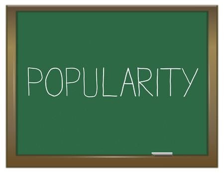 popularity popular: Illustration depicting a green chalkboard with a popularity concept.