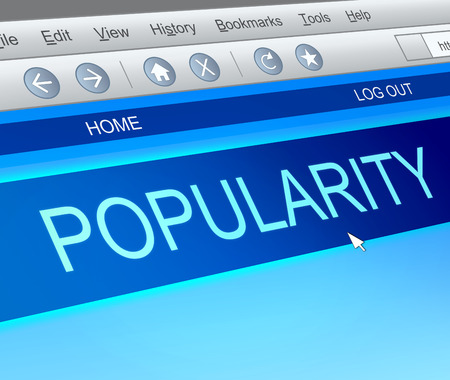 acclaim: Illustration depicting a computer screen capture with a popularity concept. Stock Photo