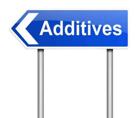 modification: Illustration depicting a sign with an additives concept. Stock Photo