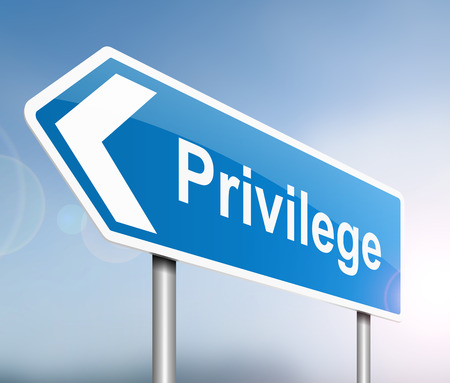 privilege: Illustration depicting a sign with a privilege concept.