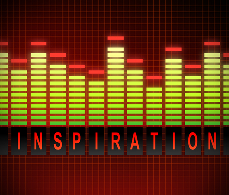 levels: Illusration depicting graphic equalizer levels with an inspiration concept. Stock Photo