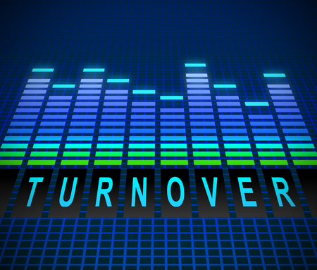 Illusration depicting graphic equalizer levels with a turnover concept. Stock Photo