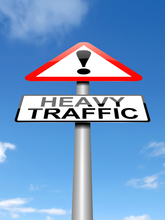 snarl: Illustration depicting a sign with a traffic concept. Stock Photo