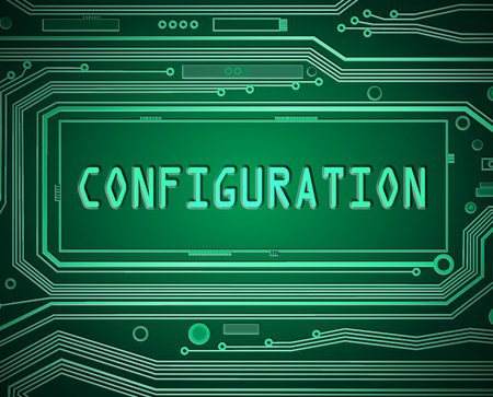 configuration: Abstract style illustration depicting printed circuit board components with a configuration concept.