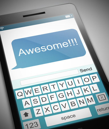 tremendous: Illustration depicting a phone with an awesome concept. Stock Photo