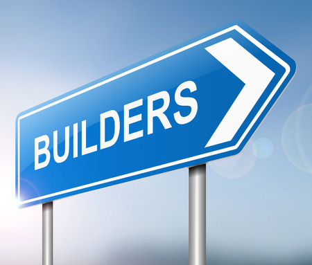 building trade: Illustration depicting a sign with a builders concept.