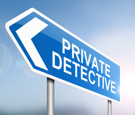 spotter: Illustration depicting a sign with a private detective concept.