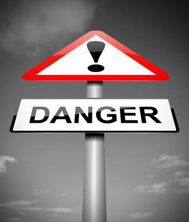 Illustration depicting a sign with a danger concept.