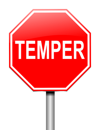 Illustration depicting a sign with a temper concept. Stock Photo