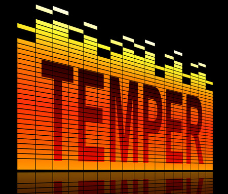 temper: Illustration depicting abstract graphic equalizer levels with a temper concept.