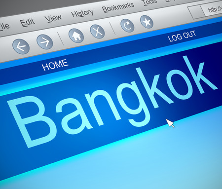 bangkok: Illustration depicting a computer screen capture with a Bangkok concept. Stock Photo