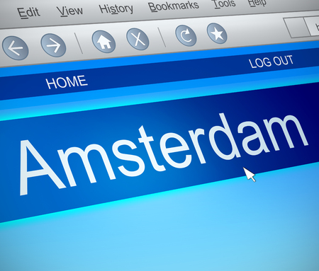 capture: Illustration depicting a computer screen capture with an Amsterdam concept.