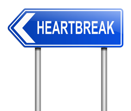 miserable: Illustration depicting a sign with a heatbreak concept.