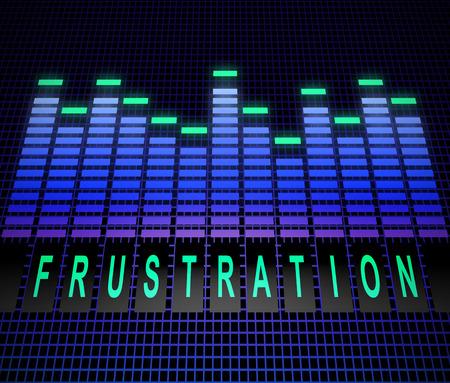 irritation: Illustration depicting graphic equalizer levels with a frustration concept.