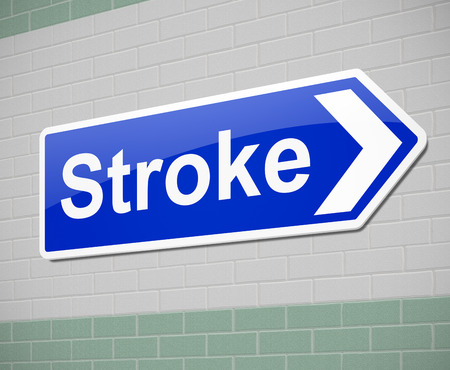 insult: Illustration depicting a sign with a stroke concept.