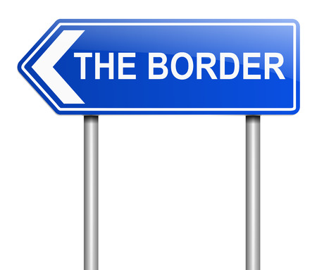 bounding: Illustration depicting a sign with a border concept. Stock Photo