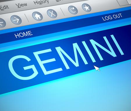 capture: Illustration depicting a computer screen capture with a gemini concept.
